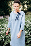 Plus Size Loose Casual Cotton Linen Mini Dress