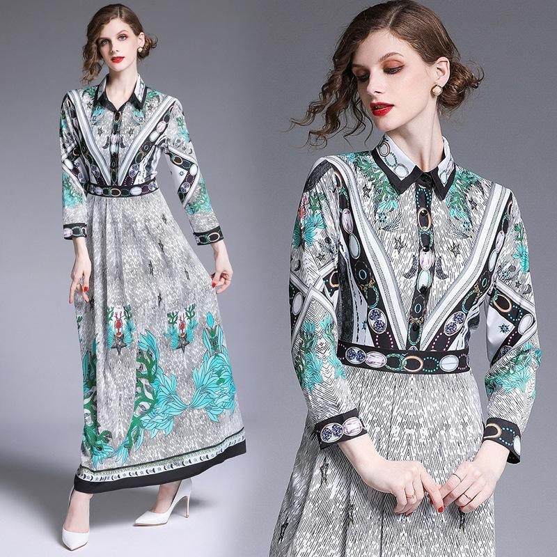 Fashion Print Long Sleeves Dress