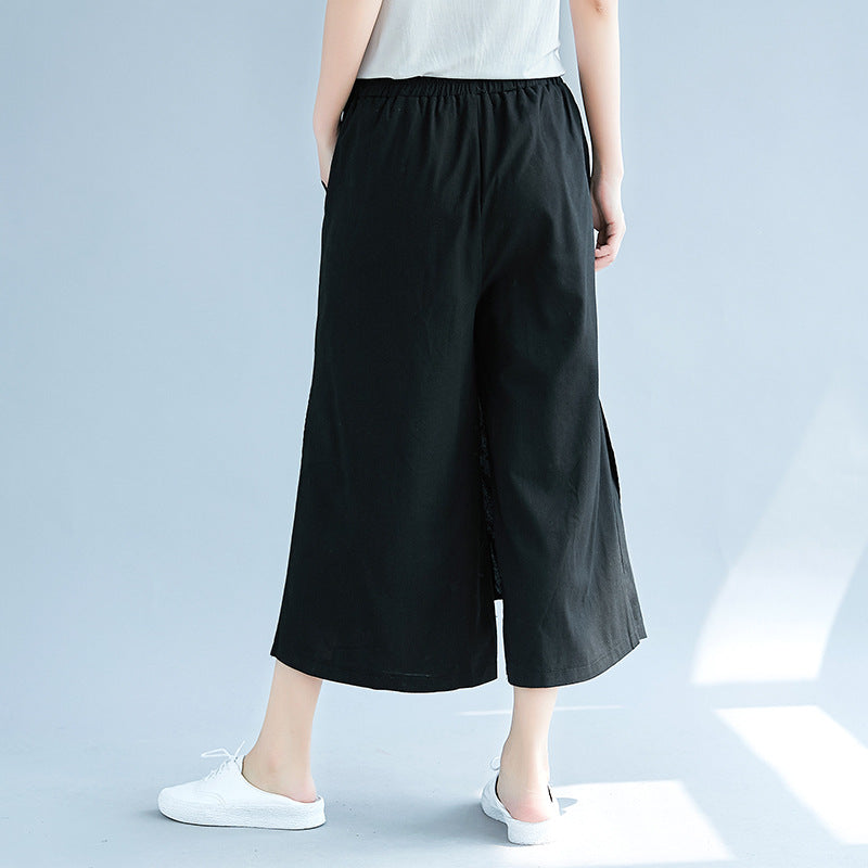 Cotton & Linen Loose Skirt Pants Casual Pants