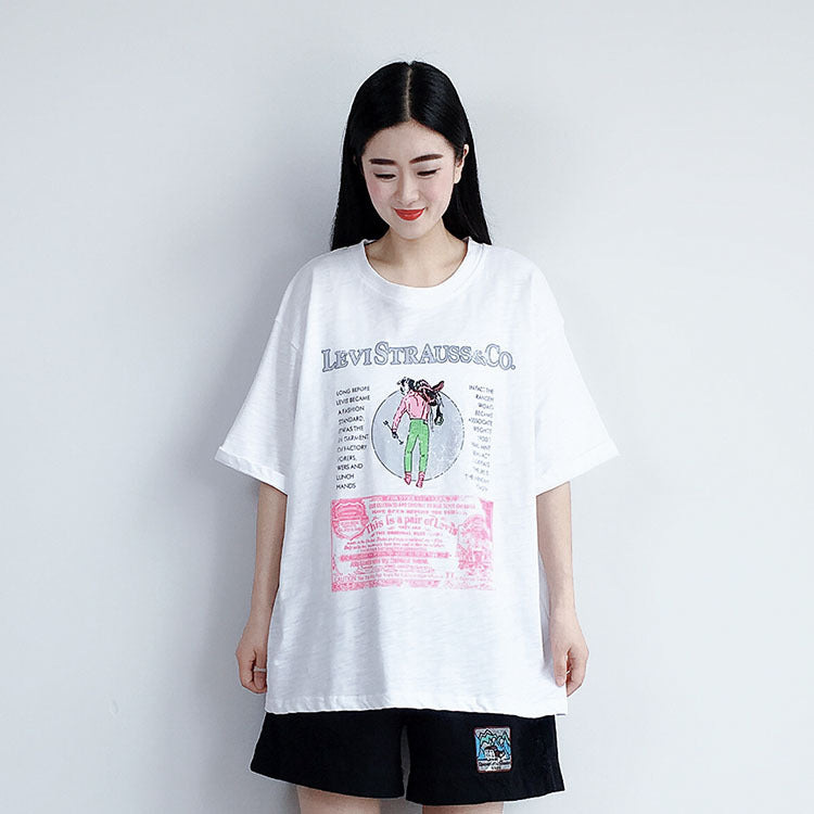 Casual Print Letter Short Sleeve Blouse