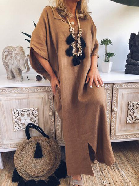 Fashion New Loose Linen Maxi Dresses