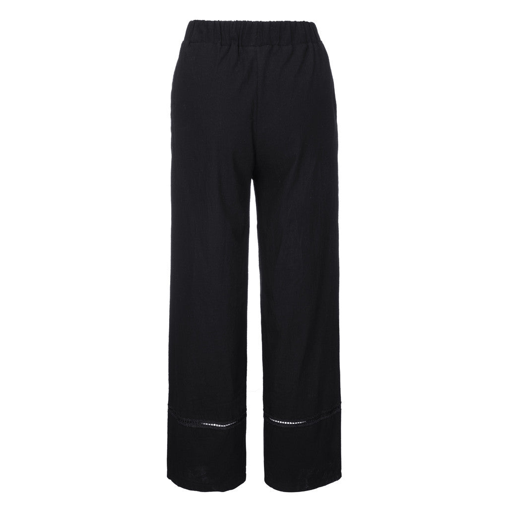 Cotton Linen Loose Pant Literary Trousers