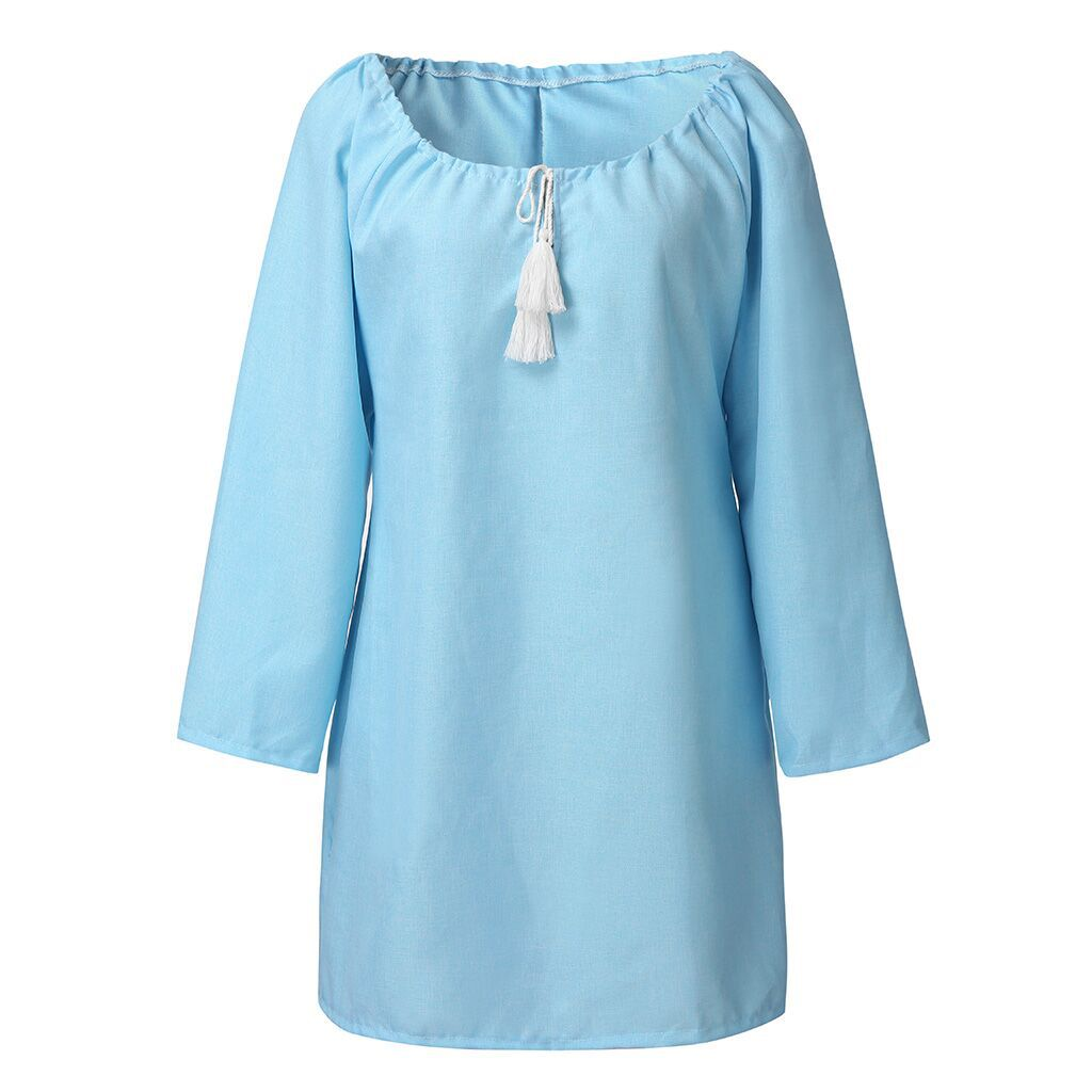 New Cotton Linen Casual Mini Dresses