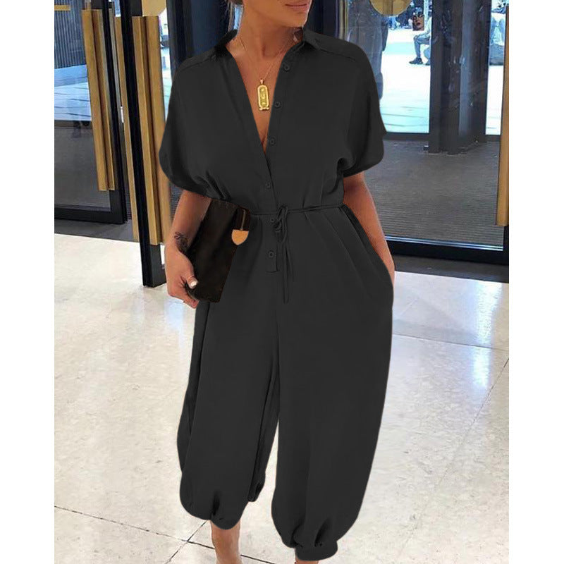 Casual High Waist Loose  Summer Jumpsuits