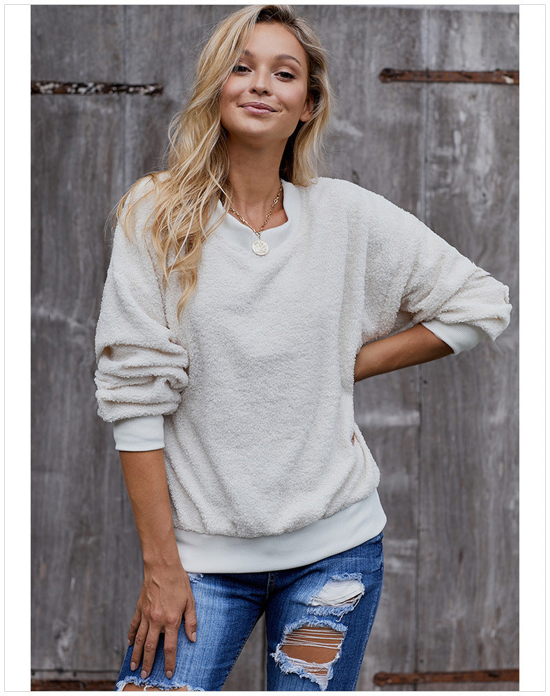 New Turtleneck Round Neck Long Sleeve Casual Sweatshirt