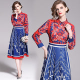 Classic Fashion Long Sleeve Letter Print Dress
