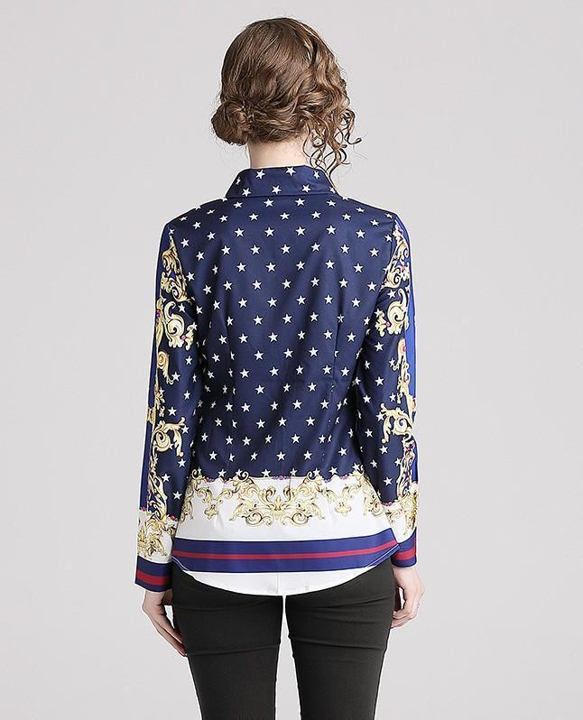 Fashion Slim Printed Shirt