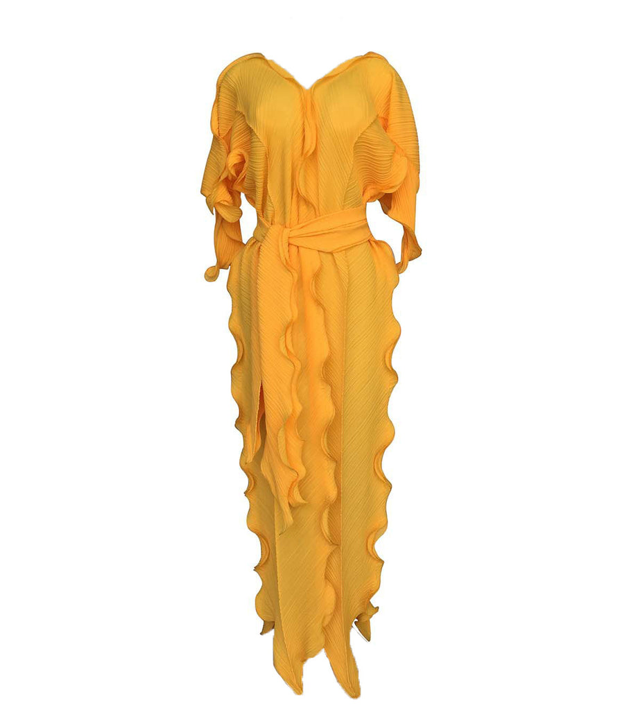 Fashion Plus Size Ruffles Maxi Dress