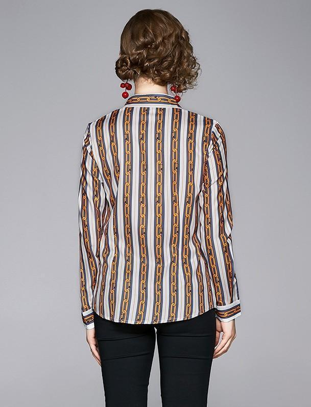 Fashion Printed Lapel Single-breasted Shirt
