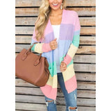Knitwear pink striped cardigan