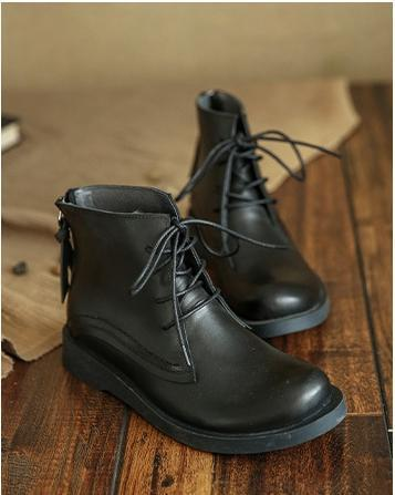British style retro lace Martin boots_black