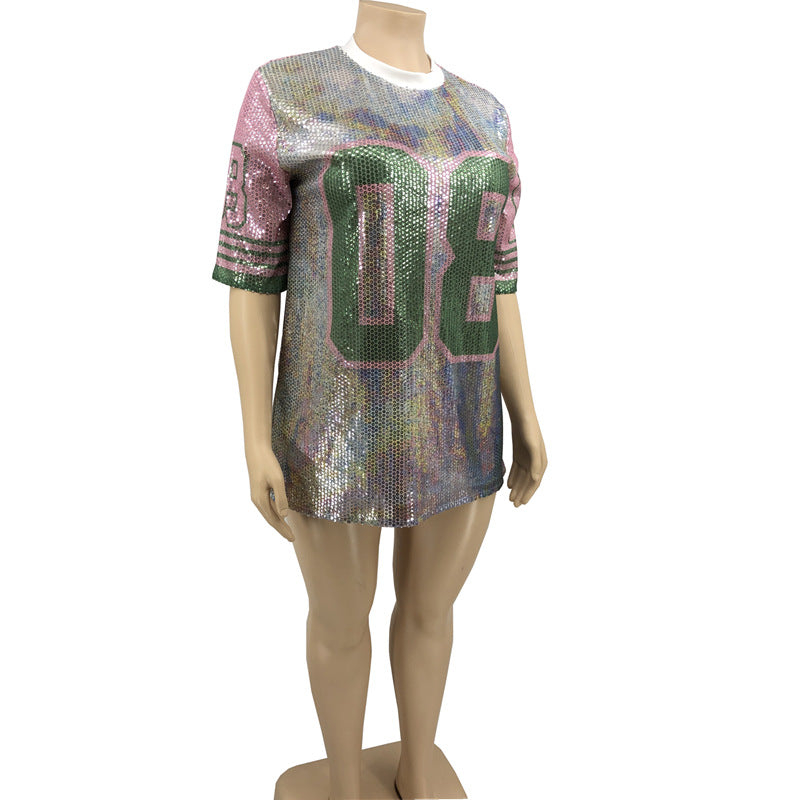 Oversized Sequins T-shirt XL-4XL