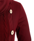 Solid color irregular knitted sweater-4color