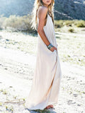 Women Sexy Spaghetti Strap Maxi Summer Beachwear Long White Dress