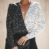 Sexy V Collar Stitched Shirt