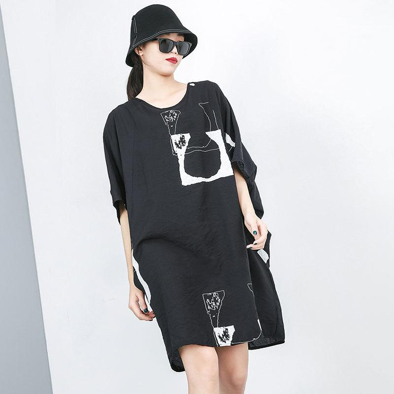 Summer Fashion Casual Print Short Sleeve Dress