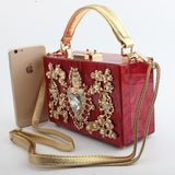 Acrylic Fashion Love Hollow Diamond Crossbody Shoulder Handbag