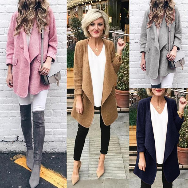 Solid Color Casual Long-sleeve Cardigan-4color
