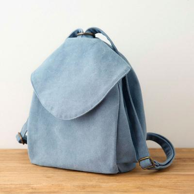 Women Casual Canvas Literature Zipper Backpack