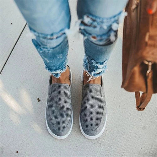 Casual Solid Color Slip-On Flat Athelitic Shoes