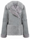 Light Gray Cute Fur Coat
