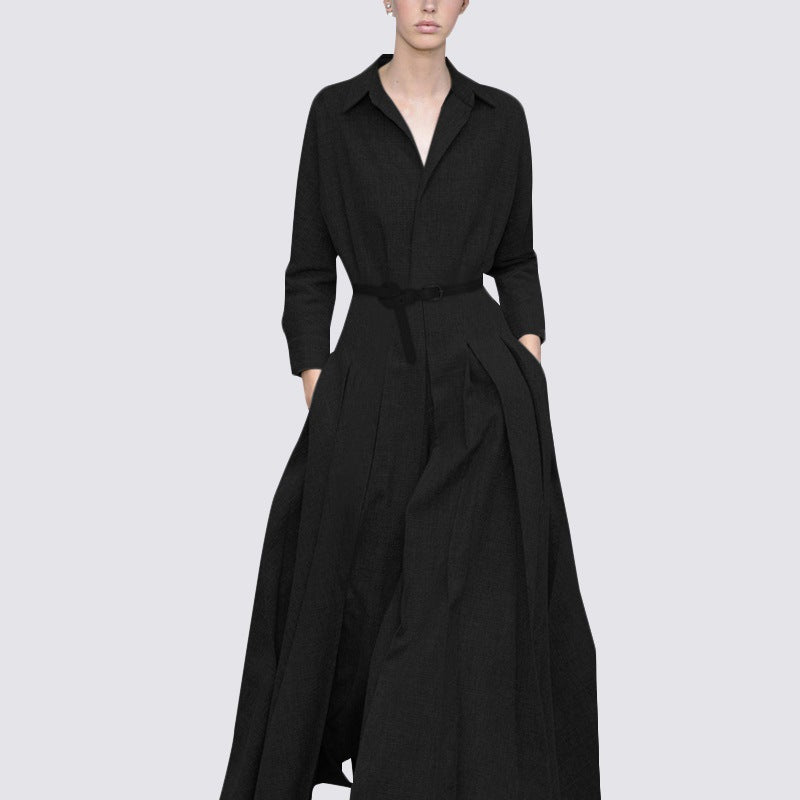 Loose Casual Long Sleeves Maxi Dress