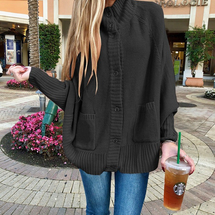 Loose Sweater Bat Sleeve Cardigan
