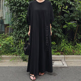 Long Loose Large Size Cotton Dress