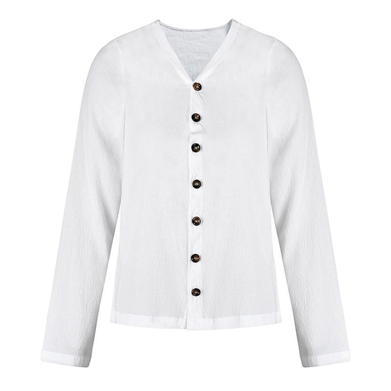 Long sleeve Blouse breathable Button Shirt Cotton Sun Protection Top