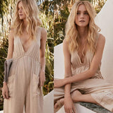 Vintage Cotton Loose Boho Jumpsuits