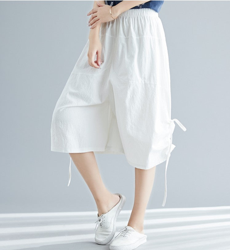 Cropped Trousers Loose Women Pants
