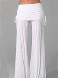 Simple Solid Color Wide Leg Long Pant