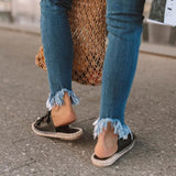 Hemp Rope Flat Bottom Women Slipper