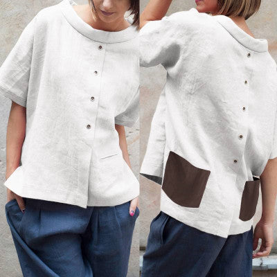 Casual Cotton Short Sleeve Shirt