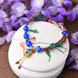 Ethnic Style Beads Flower Chain Bracelets