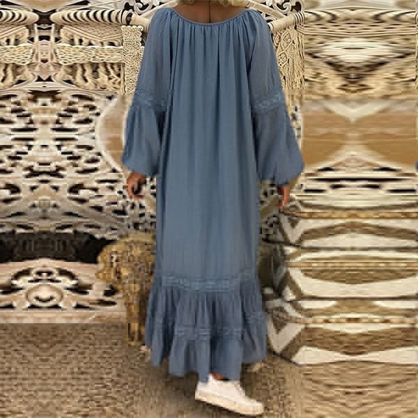 Long Sleeve Round Neck Loose Dress