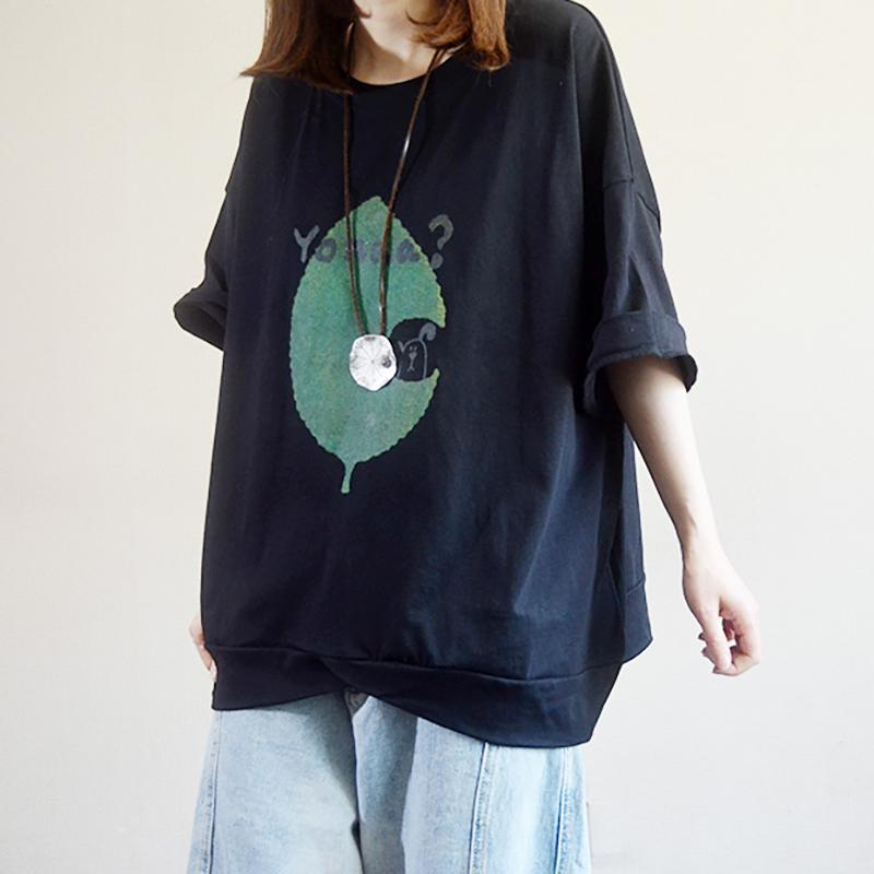 Round Neck Cartoon Loose Casual T-Shirt