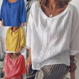 Solid Color Casual Long Sleeves Blouses