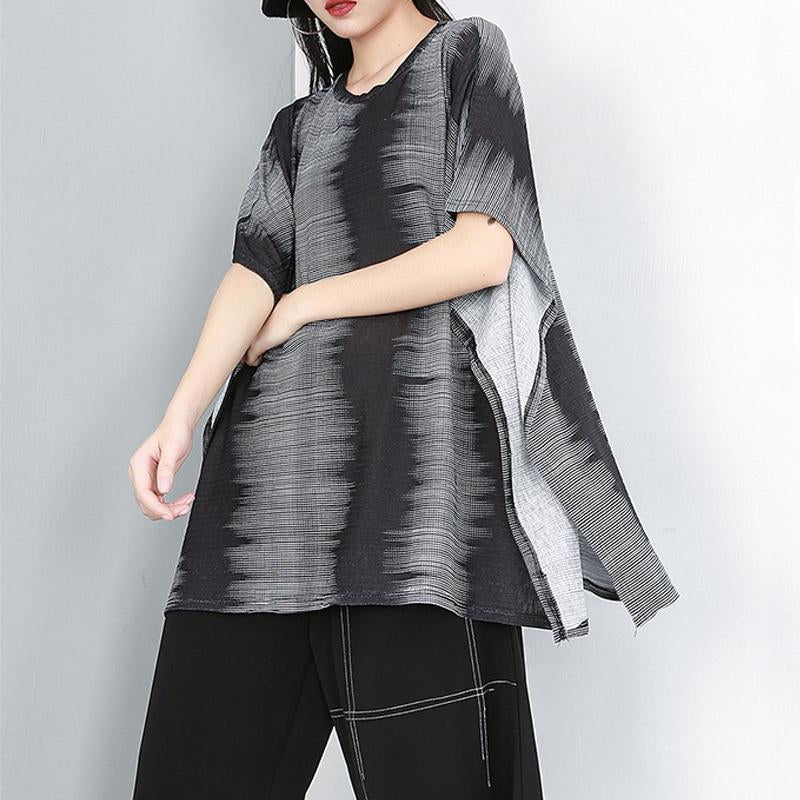 Casual Round Neck Batwing Sleeve Blouse