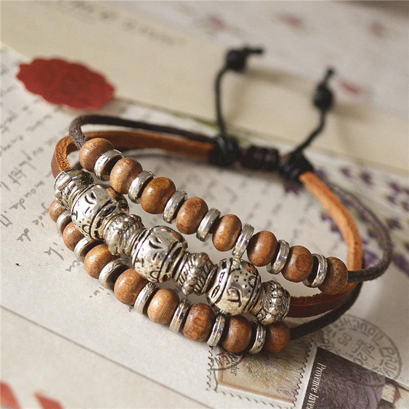 Retro Accessories Wood Beads Bracelet