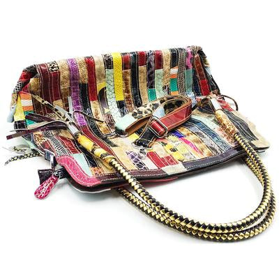 Lady's Fashion Western Style Colorful Handbag
