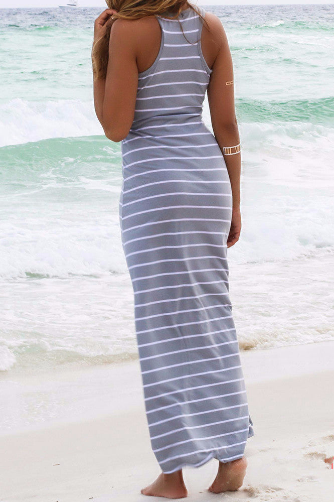 Sexy Fashion Striped Beach Dress