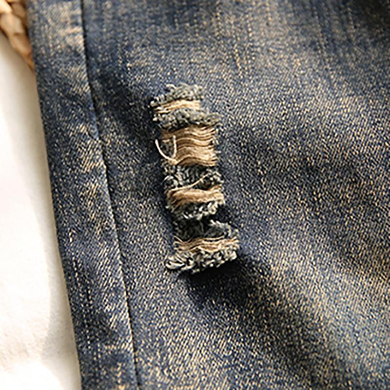 High Waist Patchwork Women Spring Jeans