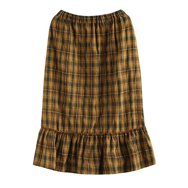 Casual Literary Plaid A-Line Women' Skirt