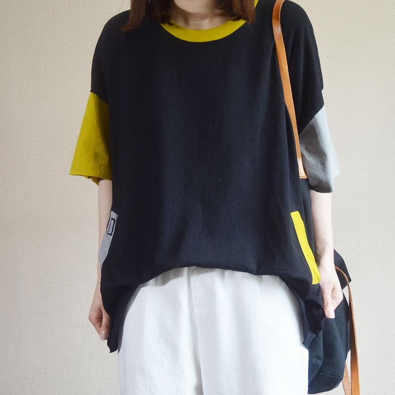 Colorblock Summer Casual Cotton T-Shirt