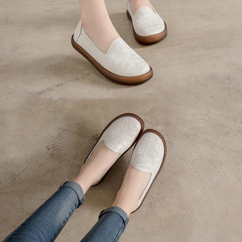Spring Fashion Casual Leather Women Flats