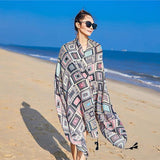 Pattern Printed Casual Beach Holiday Scarf