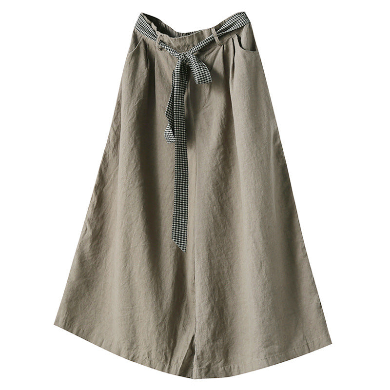 Linen Casual Pants Loose Literary Trousers