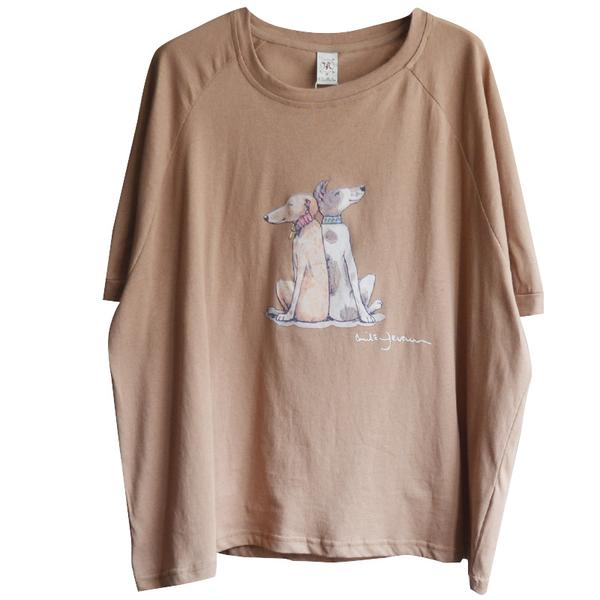 Casual Cartoon Dogs Printed Cotton T-Shirt