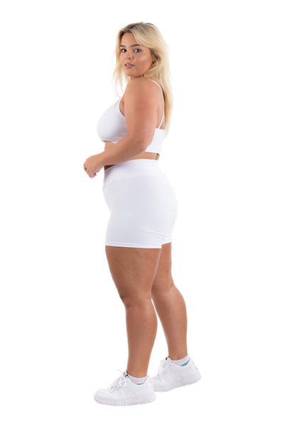 White Couture Shorts Plus Size